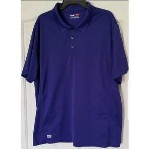 Fila Size XXL Purple Sport Golf Polo